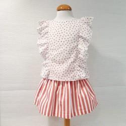 Conjunto de falda cangrejos...