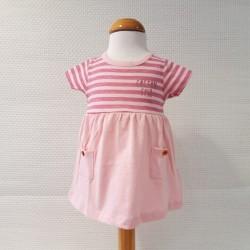 Vestido manga corta rosa...