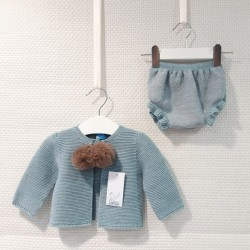 Chaqueta con ranita de lana...