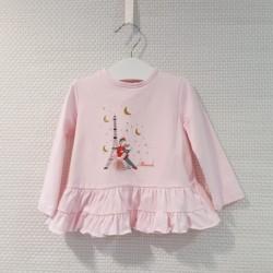 Camiseta manga larga rosa...
