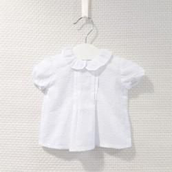 Blusa blanca de plumetti en...