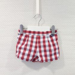 Pantalón bombacho rojo de...