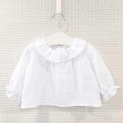 Blusa blanca tejido bámbula...