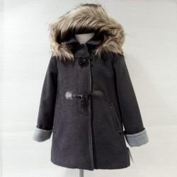 Abrigo de paño gris de BBZ